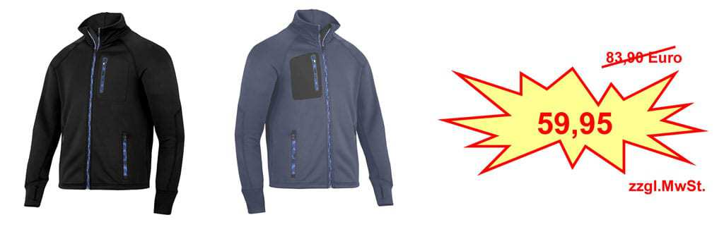 Aktionsangebot: Snickers FlexiWork Strech-Fleece Jacke