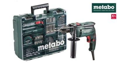Sonderangebot-Metabo Schlagbohrmaschine SBE 650 + mobile Werkstatt