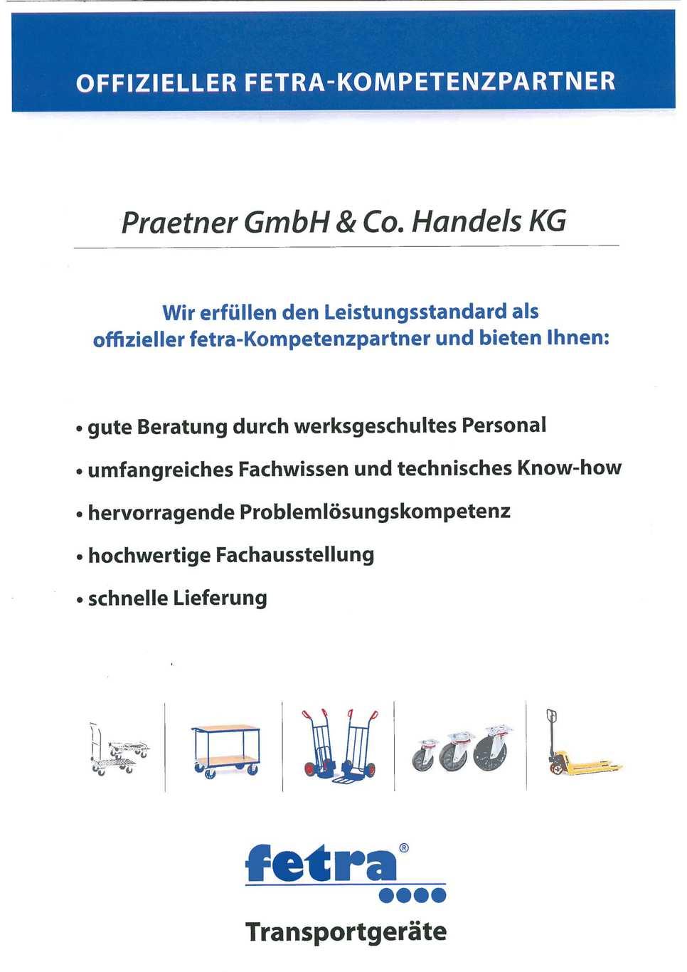 Fetra Transportgerät Zertifikat Kompetenzpartner