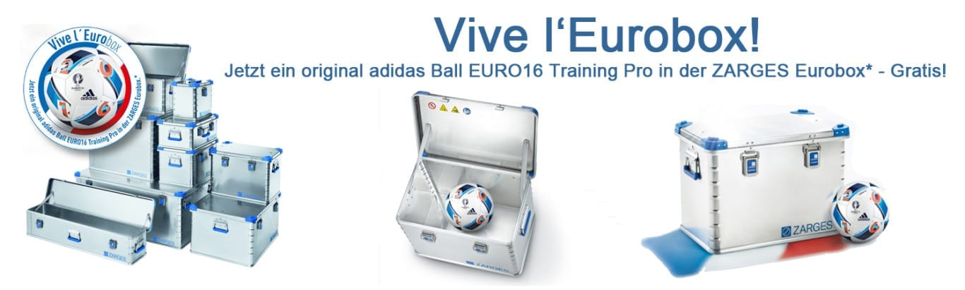 Zarges Box - original adidas Ball EURO16 Training pro gratis